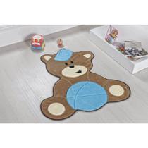Tapete Infantil Para Quarto De Bebê Urso Azul Turquesa - Guga Tapetes