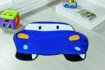 Tapete Infantil Para Quarto Pelúcia Carro Azul Royal - Guga Tapetes
