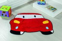 Tapete Infantil Para Quarto Pelúcia Carro Vermelho - Guga Tapetes