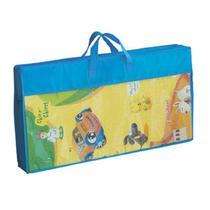 Tapete Infantil Recreio Parquinho Frente e Verso 150cmx200cm Jolitex Azul -