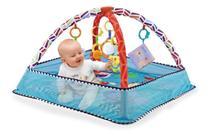 Tapete Interativo Bebê com Bolinhas Park Azul Color Baby -