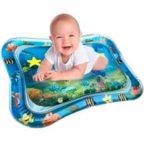 Tapete Interativo Inflavel de Agua para Bebe 66X50x6 Azul - Shiny Toys