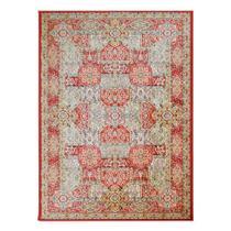 Tapete Isfahan Retangular Veludo 60x120 cm Vermelho - Rayza