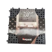 Tapete Kapazi Acqua Kap Com 6 Peças 30x30cm Cinza - 3M