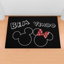 Tapete Limpe Sim Capacho Divertido Bem Vindo Mickey & Minnie - Kapazi