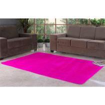 Tapete Liso para Quarto e Sala Tecido de Pelúcia 70cm x 50cm - Pink - Santos & Luan