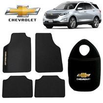 Tapete+Lixeira Chevrolet Equinox Preto Bordado - Gt