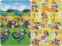 Tapete Mickey e Minnie Disney Dupla Face 120x180cm c/ bolsa - Jolitex -