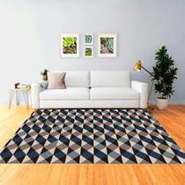 Tapete Mosaico 100x140cm 3D Antiderrapante Sua Casa Elegante Moderno Color Sala e Quarto Casa Dona -