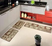 Tapete para Cozinha Kit com 3 Peças Sisal Sislle Lancer -