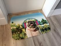 Tapete para Entrada 40cmx60cm Divertido Pugg Happy - Casa new