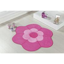 Tapete para Quarto de Meninas Formato Margarida Dupla Pink - Guga Tapetes