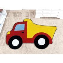 Tapete para Quarto Infantil de Menino Caminhão Vermelho - Guga Tapetes