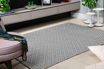 Tapete Para Sala e Quarto De Tecido Jacquard 2 Metros x 1,40 Metros Cinza - Oasis