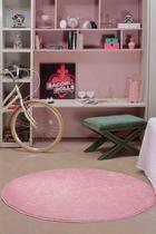 Tapete Para Sala e Quartov Classic Teen Redondo Rosa 1,00m 1 Peça - Oásis -