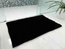 Tapete Para Sala Quarto Cozinha Banheiro  Super Macio - Bolinhas Premium Grande 50x80 Preto - Perfitec
