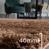 Tapete para Sala Quarto Pelo Peludo Retangular 200x140cm Casen -