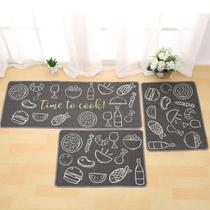 Tapete Passadeira 40Cm X 1,20M De Cozinha Antiderrapante Colori Time To Cook - Bene Casa -