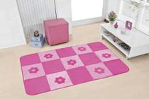 Tapete Passadeira Premium 120m x 74cm Margaridas Pink - Guga Tapetes
