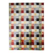 Tapete Pathwork Retangular Veludo 98x150 cm Colorido - Rayza