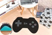 Tapete Pelúcia Controle Video Game Preto Quarto Menino Infantil Antiderrapante - Guga Tapetes