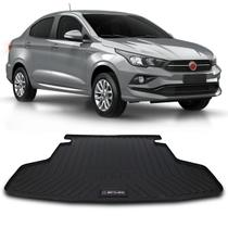 Tapete Porta Malas Bandeja Fiat Cronos 2018 Preto em PVC Impermeável 1 Peça Shutt -