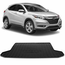 Tapete Porta Malas Bandeja Honda HR-V 2013 a 2018 Preto Fabricado em PVC com Bordas de Segurança - Requinte tapetes