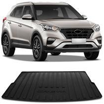 Tapete Porta Malas Bandeja Hyundai Creta 2017 a 2020 Preto Fabricado em PVC com Bordas de Segurança - Requinte tapetes