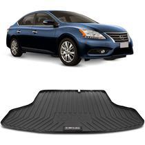Tapete Porta Malas Bandeja Nissan Sentra 2013 a 2020 Preto em PVC Impermeável 1 Peça Shutt -