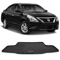 Tapete Porta Malas Bandeja Nissan Versa 2013 a 2019 Preto em PVC Impermeável 1 Peça Shutt -