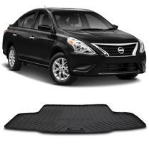 Tapete Porta Malas Bandeja Nissan Versa 2016 a 2020 Preto em PVC com Bordas de Segurança - Requinte tapetes