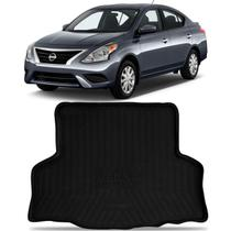 Tapete Porta Malas Bandeja Nissan Versa 2016 a 2020 Shutt Preto Fabricado em EVA Bordas de Segurança -