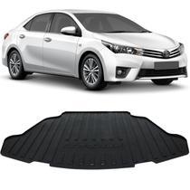 Tapete Porta Malas Bandeja Toyota Corolla 2015 a 2018 Preto em PVC com Bordas de Segurança - Requinte tapetes