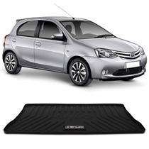 Tapete Porta Malas Bandeja Toyota Etios Hatch 2012 a 2020 Preto em PVC Impermeável 1 Peça Shutt -