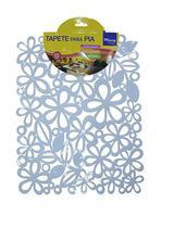 Tapete protetor para pia em pvc flor vazado 31x24cm - Fu xing