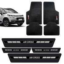 Tapete PVC Borracha + Soleira Adesiva Porta Citroen Aircross - Evo-X