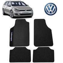 Tapete PVC Volkswagen Golf Variant Universal Preto Bordado - Gt