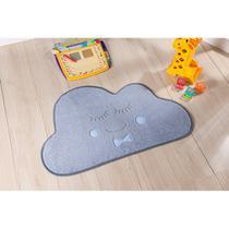 Tapete Quarto Antiderrapante Infantil Pelúcia Formato Nuvem - Guga tapetes