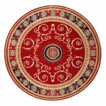 Tapete Redondo Veludo Marbella Çagdas II Vermelho 200x200 cm - Rayza