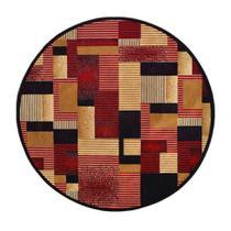 Tapete Redondo Veludo Marbella Illusione Artistic Preto 200x200 cm - Rayza