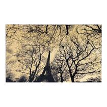 Tapete Retangular Veludo Marbella Epic Art Eiffel Park Creme 148x200 cm - Rayza