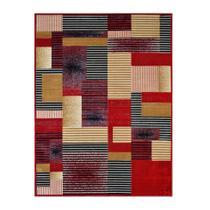 Tapete Retangular Veludo Marbella Illusione Artistic Vermelho 98x150 cm - Rayza