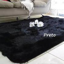 tapete sala 2,00x1,40 peludo shaggy luxo black friday - Costa Oro