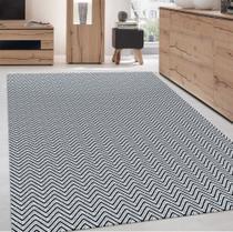 tapete sala antialérgico 100% algodão , resistente lavável em maquina , PRETO  / cru - Gouvea Textil