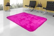 Tapete Sala Peludo Felpudo 2,00x2,40 Rosa - Am decor