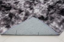 Tapete Sala Quarto Peludo Felpudo Cinza Mesclado Escuro Macio e Luxuoso 2,00 x 1,40 m - Stylo Casa