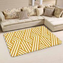 Tapete Sala Wevans Traços Amarelo - Love Decor