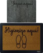 Tapete Sanitizante 70x50 + Brinde Seca Pé - Endereço Do Kapacho