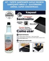 Tapete Sanitizante - Conjunto tapete sanitizante + Desinfetante quaternário de amômia Mirax - S - Kapazi / Renko