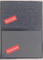 Tapete Sanitizante - Kit Tapete Sanitizante Cinza 060x040 + Tapete Secante Duo 060x040 - Kapazi